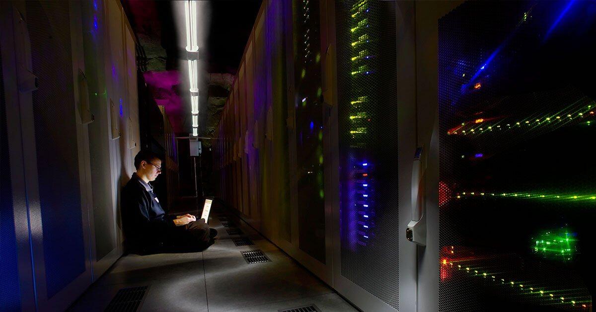 Datacentret Pionen hos Bahnhof