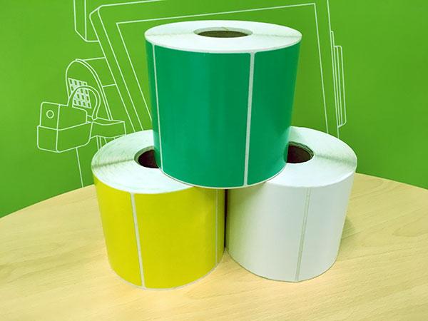 GreenLabel däcketiketter i vitt, grönt och gult