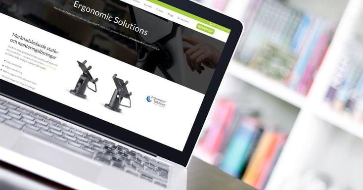 Ergonomic Solutions har fått en egen produkt- och varumärkessida
