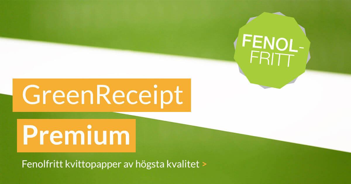 Kvittopapper GreenReceipt Premium 125 g - fritt från alla typer av fenoler