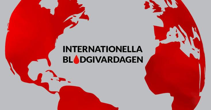 Internationella blodgivardagen 14 juni