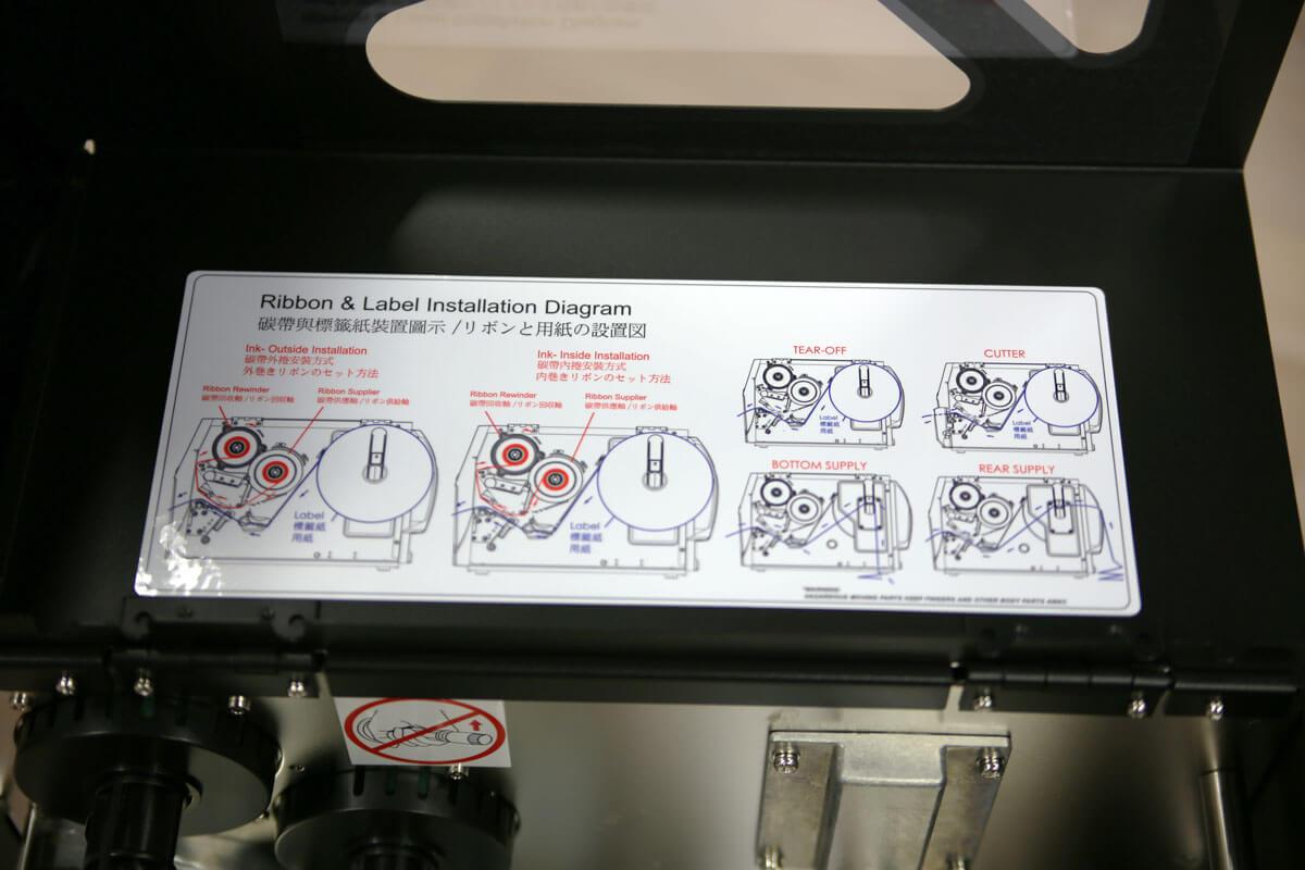 Godex ZX420i med instruktion hur man byter färgband