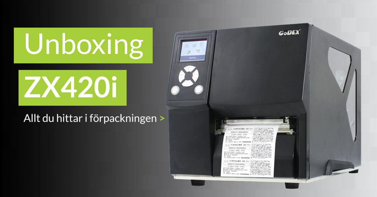 Unboxing av etikettskrivaren ZX420i från Godex