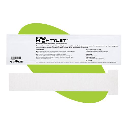 T-format rengöringskort för Evolis plastkortskrivare Badgy, Zenius, Primacy och Edikio