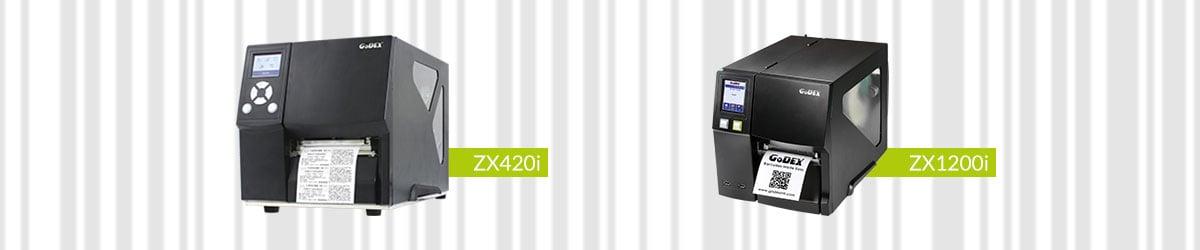 Godex erbjuder industriklassade etikettskrivare för mer krävande utskriftsjobb såsom ZX-serien