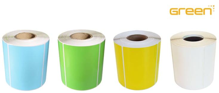 GreenLabel däcketiketter i blått, grönt, gult eller vitt