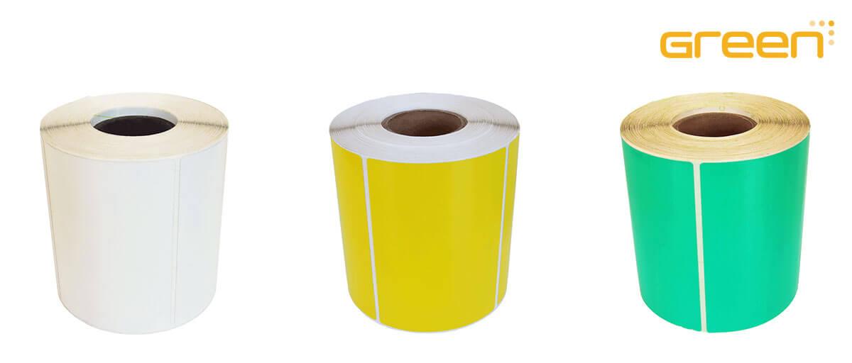 GreenLabel däcketiketter i vitt, gult eller grönt