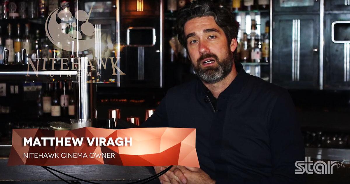 Matthew Viragh, ägare av Nitehawk Cinema berättar om sitt helt nya biljettsystem av Filmbot och Star