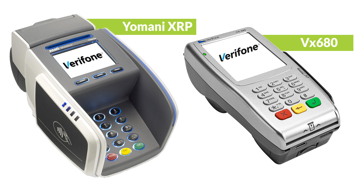 Betalterminal Yomani XRP samt Vx680 från Verifone