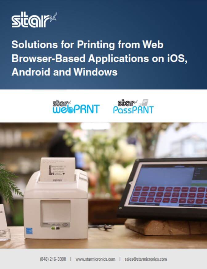 Solutions for Printing from Web Browser-Based Applications on iOS, Android and Windows