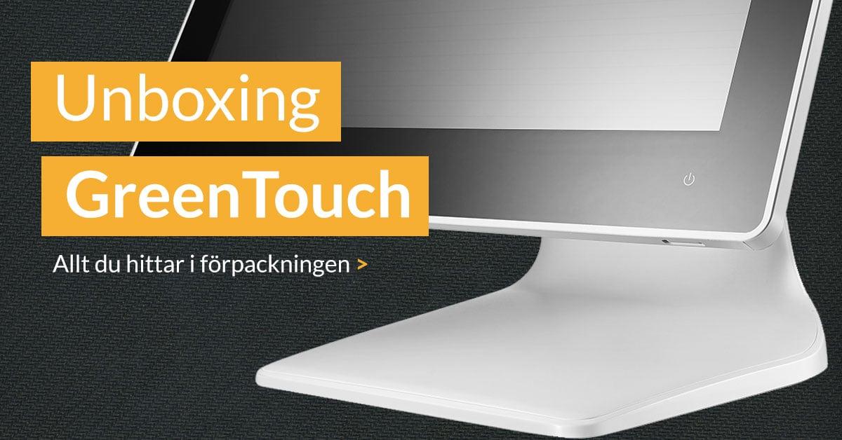 Unboxing av GreenTouch från Posbank