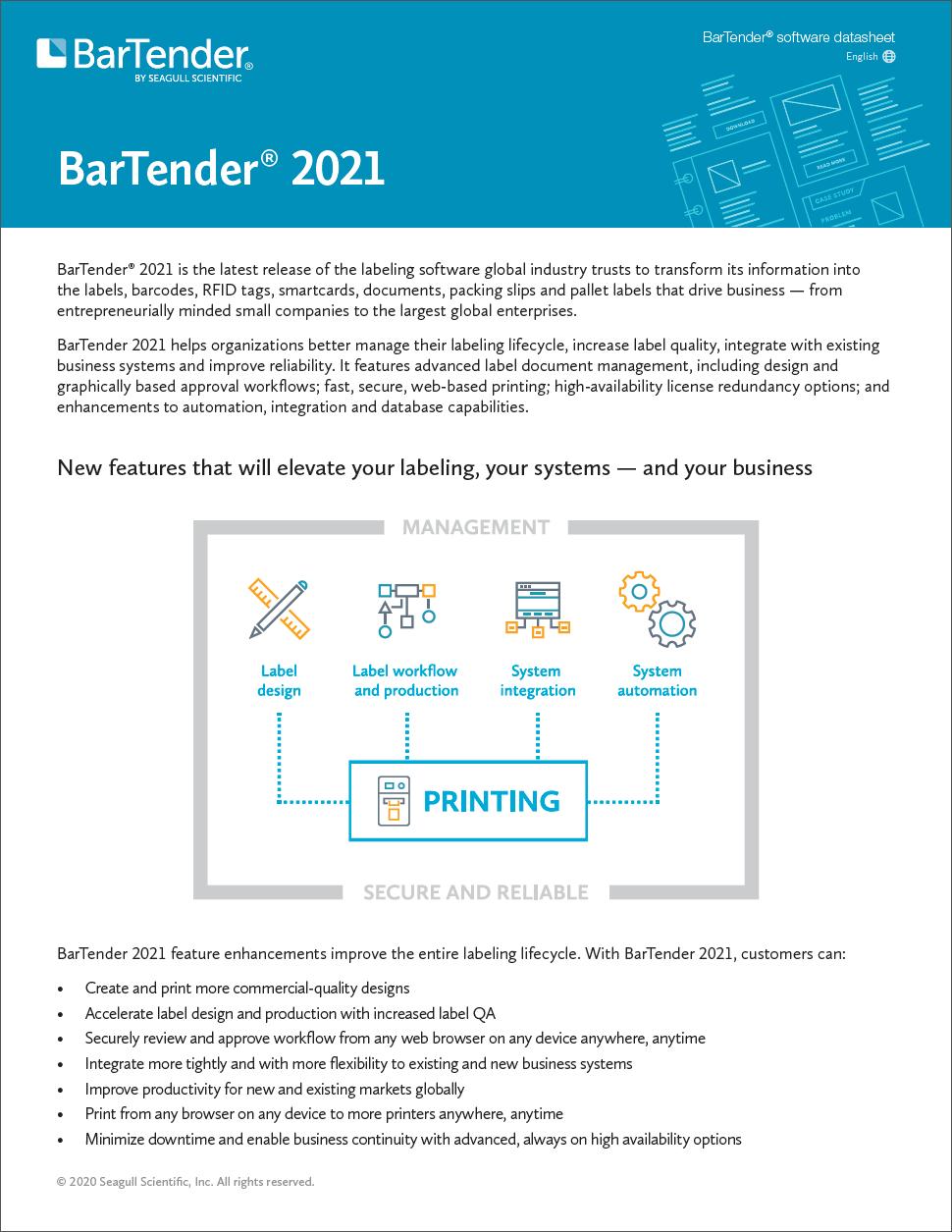 Vad är nytt i BarTender 2021?